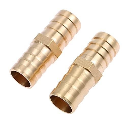 2 unids 6mm-19 mm de latón Manguera recta Manguera del carpintero Conector de púas de aire Air Tubería de agua Tubería de gas neumáticos Tubería de gas Reducción de accesorios DUO ER (Color : 19mm)