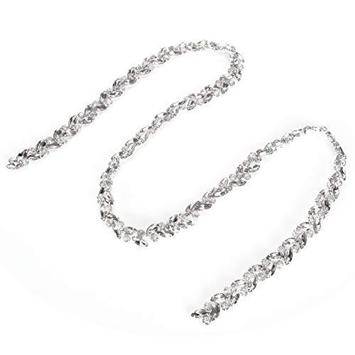 Cadena De Diamantes De Vidrio, Cadena De Flores De Ojo De Caballo, Alta Definición Para Ropa, Vestidos De Novia, Muebles, Pulseras, Sombreros, Collares(blanco)