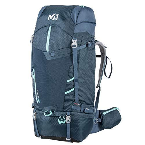 Millet – Ubic 50+10 W – Sac à Dos pour Femme – Randonnée, Ski de Randonnée et Trekking – Volume Extensible 50+10 L – Bleu