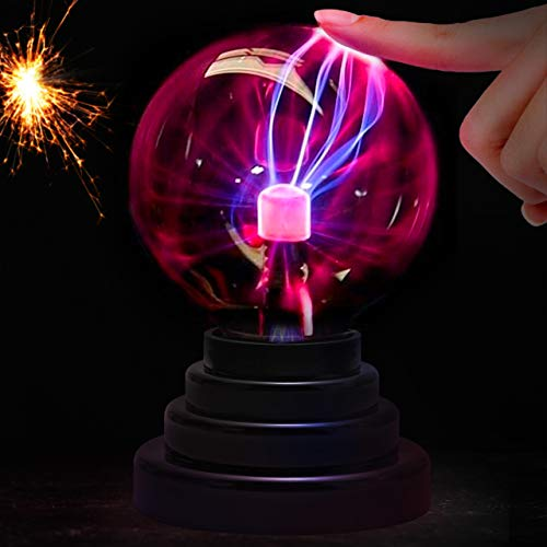 Lava Lamp Plasma Ball 3'' Toy for Kids Adult, Touch Control Lightning Plasma Globe Novelty Toy, Nebula Sphere Desk Lamp Disco Ball Lamp for Parties/ Decorations/ Prop/ Home(USB or Battery)