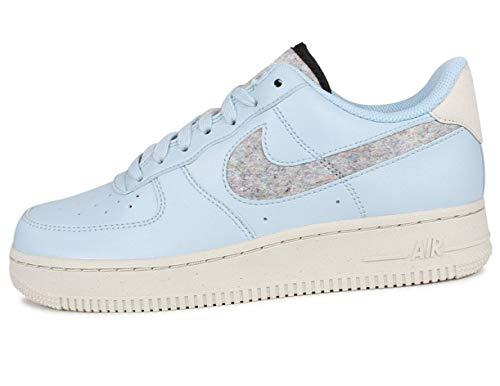 Nike Wmns Air Force 1 '07 SE, Zapatillas de bsquetbol Mujer, Lt Armory Blue LT Armory Blue Lt Bone Black White White White, 37.5 EU