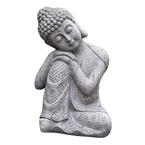 Nobranded Buddha Statue, Meditation Thai Shakyamuni Sleeping Figurine Sculpture Resin Craft, Desktop Home Living Room Office Yoga Zen Decoration Collectibles