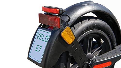 Scoot One E-Scooter E7 - mit Straßenzulassung /ABE, Herausnehmbarer PANASONIC Lithium-Ionen-Akku, 20 km/h, 8,5 Zoll Luftreifen, schwarz - 6