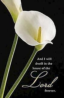 Calla Lilies Funeral Bulletin (Pkg of 50)