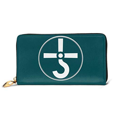 XCNGG Brieftasche Blue Oyster Cult Leather Wallet, Kartenpaket, Faltbare Brieftasche, Fashion Wallet, personalisierte benutzerdefinierte Brieftasche