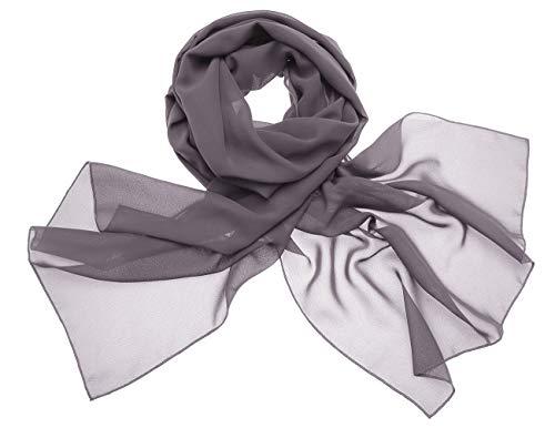 Dresstells Dresstells Chiffon Schal Stola für Abendkleider in Verschiedenen Farben Grey 190cmX70cm/ Medium