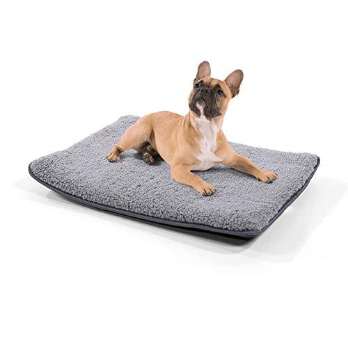 brunolie Finn kleine Hundedecke, geruchsneutral, hygienisch und rutschfest, waschbare Hundematte in Grau, passend für das Auto, Größe S (68 x 54 x 5 cm)