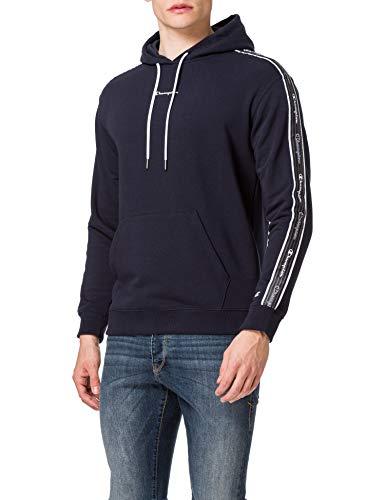 Champion Seasonal American Tape Hooded Sweatshirt Felpa con Cappuccio, Blue, XXL Uomo
