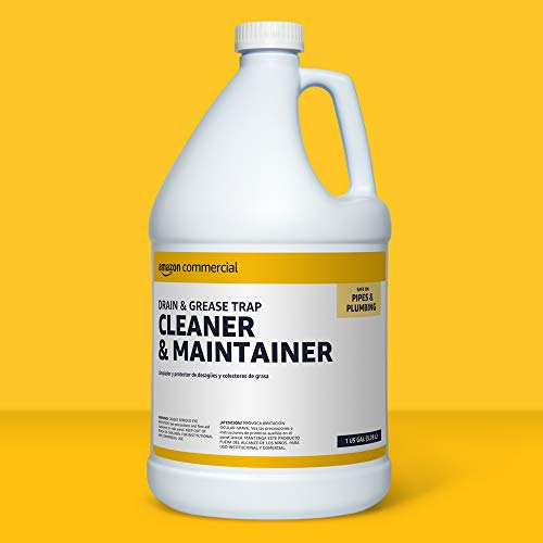AmazonCommercial Drain and Grease Trap Cleaner and Maintainer, 1-Gallon, 1-Pack