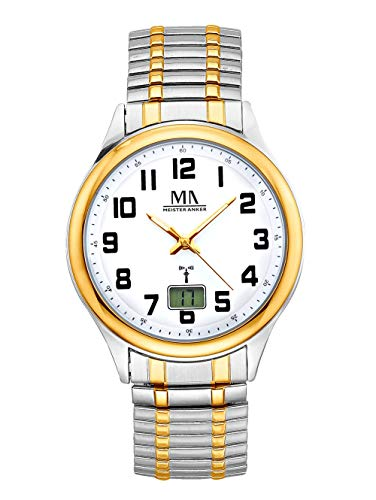 Meister Anker Herren Analog-Digital Uhr in Multicolor mit Armband in Multicolor aus Edelstahl