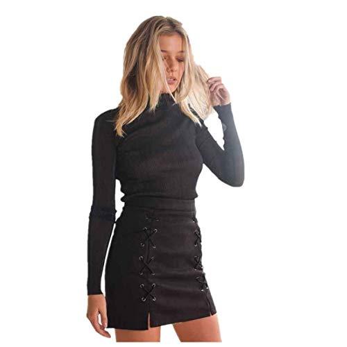Bhydry Dameskleding van suède voor dames, minirok, slanke naadloze vaste korte rok, fashionable completi, modieus model 2019