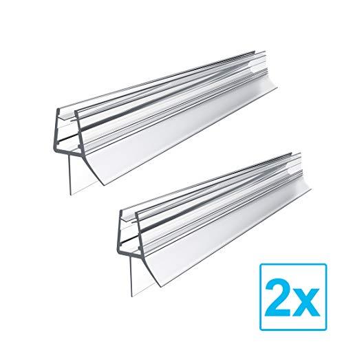 Ersatzdichtung Wasserabweiser Duschdichtung Schwallschutz Duschkabine Bad (100cm zum 7-8mm Glas, Modell C(2 Stück))