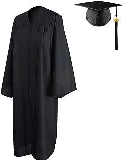HEPNA 2019 Graduation Gown Cap Tassel Set, Uniforms Matte Graduation Robe for High School and College Ceremony