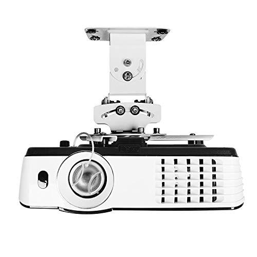 Duronic PB05XB Soporte para Proyector de Techo y Pared - Universal y Articulado - Carga Máx 13,6 kg - Color Blanco- Cine en Casa