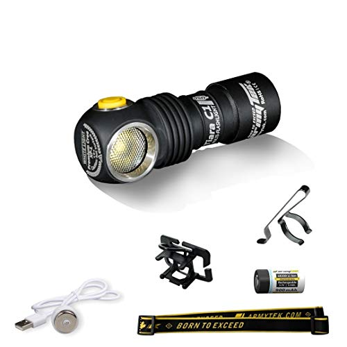 Armytek Tiara C1 Pro XP-L Warm LED-Stirnleuchte mit Magnet-USB-Ladegerät und 18350 Li-Ion Akku