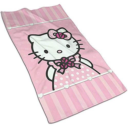 Princess Hello Kitty Soft Super Absorbent Toalla de manos de secado rápido Toalla de baño Toalla de playa- 27.5 X 17.5 pulgadas