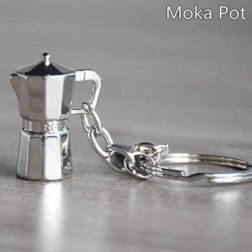 ivykin cafetera Moka cafetera llavero para Amante del café regalo de Navidad 1ppcs/Set: Amazon.es: Oficina y papelería