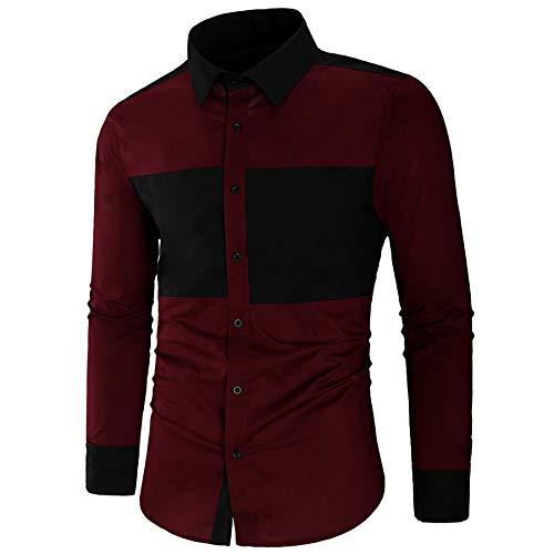 Derrick Aled(k) zhuke Camisas De Vestir Casuales para Hombres Camisa Ajustada De Manga Larga Camisa De AlgodóN A Juego con El Color De Los Hombres