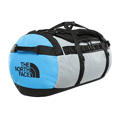The North Face Gilman Duffel L TNFB/MDG/CLRLKB Sac Mixte Adulte, Tnfblk/Midgry/Clearlkblue, FR Unique (Taille Fabricant : OS)