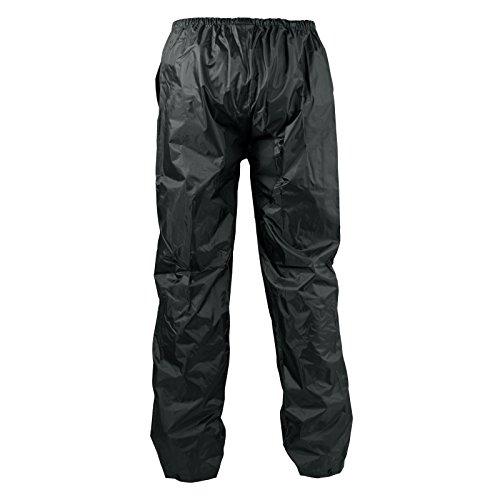 A-Pro Pantaloni Antipioggia Impermeabili Antiacqua Anti Vento Foderato Moto Nero XL