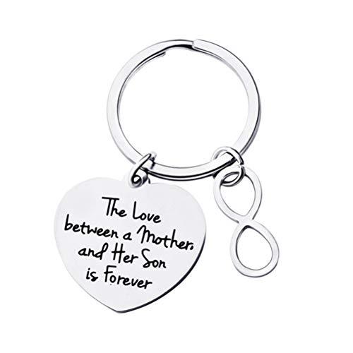 VOSAREA Porte-clés Créative mother'gifts de Son Steel Pendentif