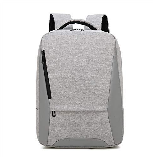 Msbir Business Notebook Large Capacity Computer Shoulder Bag Leisure Backpack 16 Inch Light Grey zaino donna viaggio capiente zaino da viaggio per aereo zaino porta pc impermeabile uomo zaino casual
