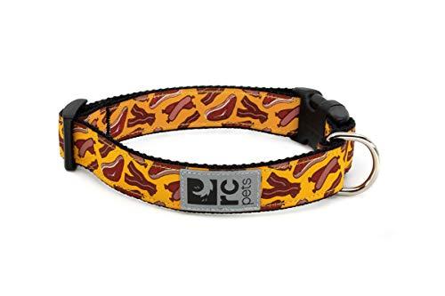 RC Pets 1 Inch Adjustable Dog Clip Collar, Medium, Meat Lover
