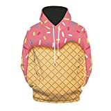 MmNote Men's Digital Print Sweatshirts Hooded Top Galaxy Pattern Pullover Hoodie in 7 Colors .Size:S-2XL Pink