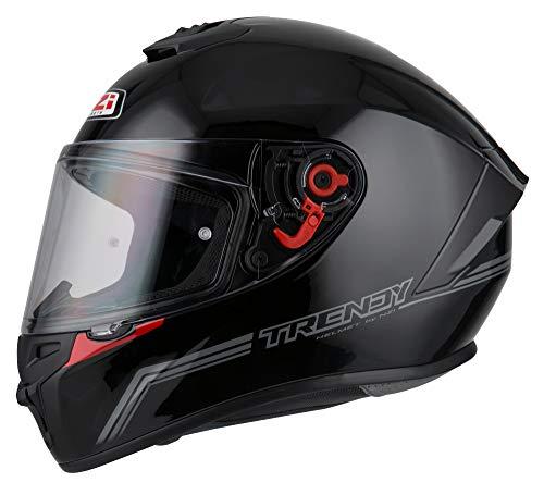 NZI - Casco Integral NZI Trendy (L 59-60 cm, Solid Nouveau Black)