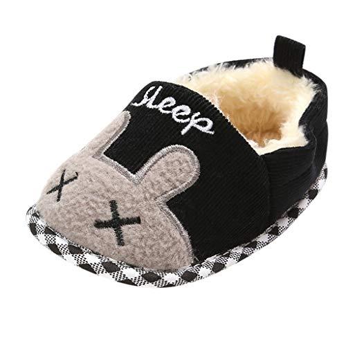 WEXCV Schuhe Kinder Unisex Baby Jungen Mädchen Süßes Kaninchen Verdicken Plüsch Winter Warme Kleinkind Schuhe Babyschuhe Baumwollschuhe Flache Hausschuhe
