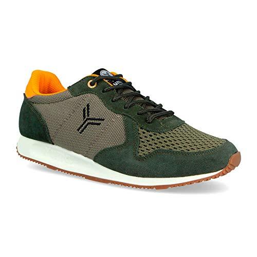 Zapatilla Sneaker Yumas Dublin Caqui Fabricado en Piel Serraje y nilon Plantilla...
