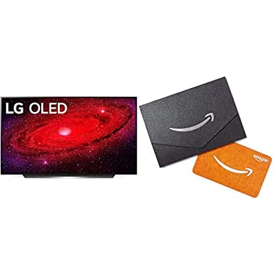 "LG OLED55CXPUB Alexa Built-in CX 55"" 4K Smart OLED TV (2020) with Free $50 Amazon Gift Card from"