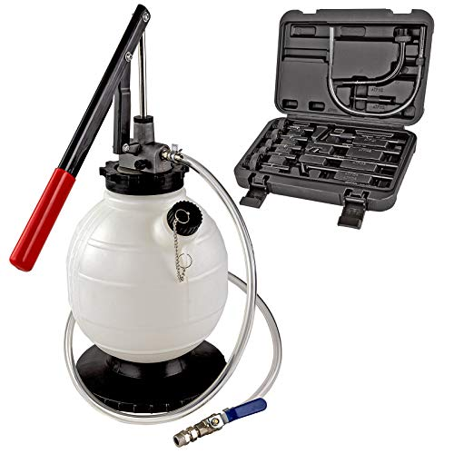 DEMA Getriebeöl Öl Einfüllgerät Befüllgerät Öleinfüllgerät Ölwechsel 7,5 L mit Handpumpe