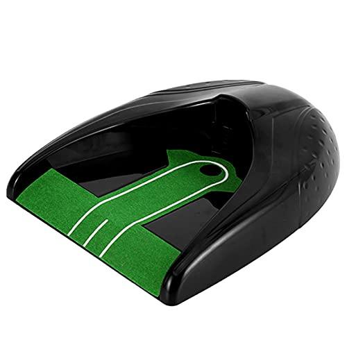 YTBLF Putting Cup Automático, Entrenador De Swing De Golf Putting Cup Hole Balls Entrenamiento De Retorno para Interiores, Máquina De Retorno De Golf para Práctica De Entrenamiento - Negro