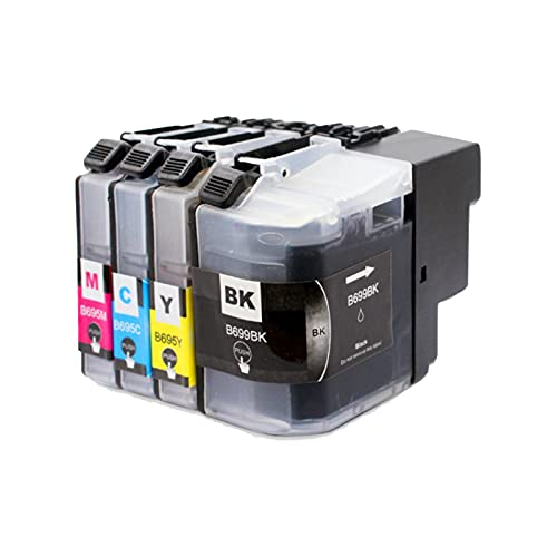 RICR Cartuchos De Tinta Remanufacturados para LC 699 695 De Repuesto, Accesorios Compatibles Utilizados para La Impresora para Brother MFC-J2320 MFC-2720 Modelos (Traje D One Set