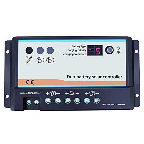Epever Solarladeregler mit 2 Batterien, 20 A, 12 V, 24 V, Solarregler für Wohnmobil und Boote