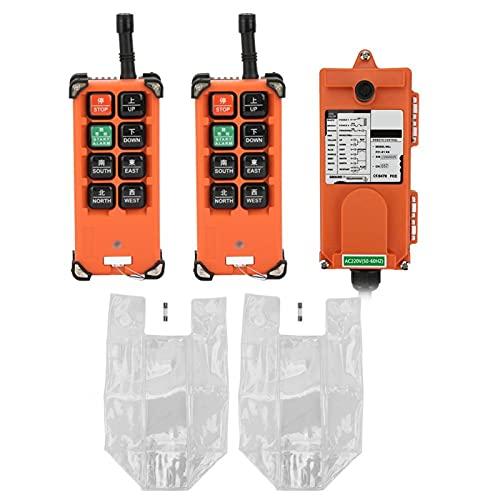 Control remoto industrial de 220 V, 2 transmisores, 1 receptor, sistema de control remoto por radio para control industrial