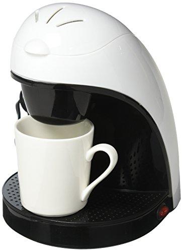 Brentwood TS-112W Coffee Maker with Ceramic Mug, Single Serve, White