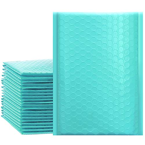 UCGOU 6x10 Inch Teal Poly Bubble Mailers Padded Envelopes Self Seal Envelopes Bags Pack of 50 (Internal Size: 6x9 )