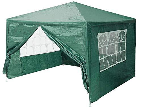 VANGALOO Pavillon wasserdicht 3x3m, Wasserdicht Faltbare Camping Vorzelt wasserdichter Faltpavillon 3x3m wasserdicht,Schutz mit 4 Seitenteilen,Pavilion