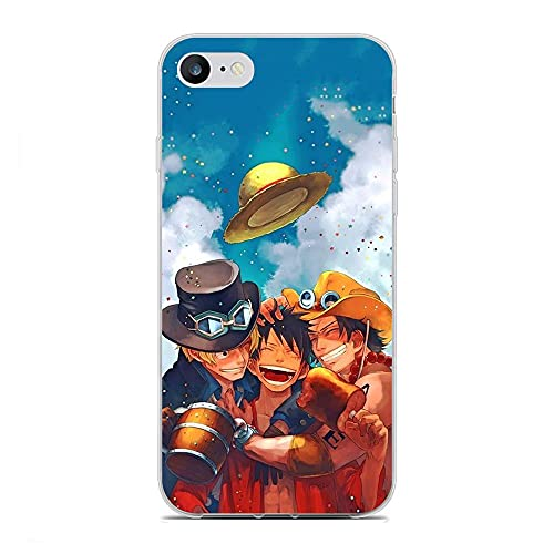 YZTEVXWE Clear Thin Silicone Coque Fundas Flexible Protective Case for Apple iPhone 6 Plus/6s Plus-One Piece-Luffy 3
