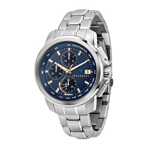 Maserati Reloj Hombre, Colección SUCCESSO Solar, Cuarzo, Solo Tiempo, en Acero - R8873645004
