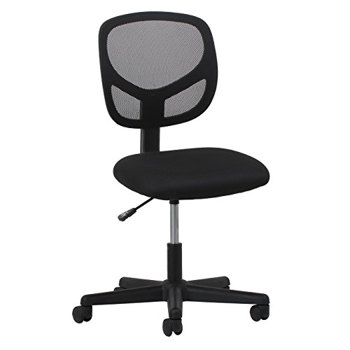 OFM ESS Collection Mesh Back Office Chair, Armless, in Black (ESS-3000)
