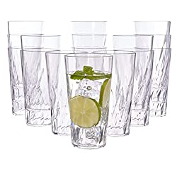 professional Palmetto 20 oz Clear Plastic Cup | Set of 16