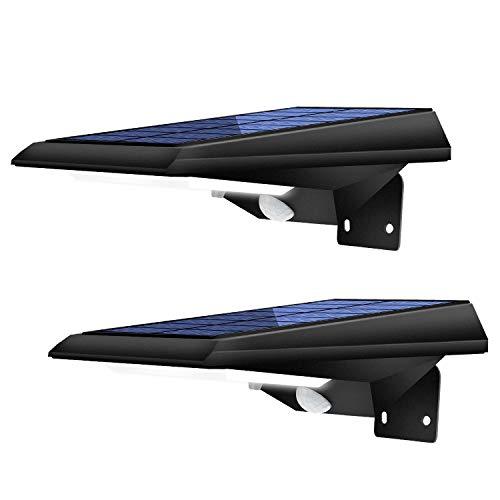 Solarlampen für Außen mit Bewegungsmelder Solarleuchten für Außen 3 Modi Solarleuchten Garten IP65 Wasserdicht 2 Stück YOHAYO