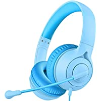 Soulsens Kids Online Learning Stereo Headset with Microphone, 94dB Volume Limit, 3.5mm Audio Jack