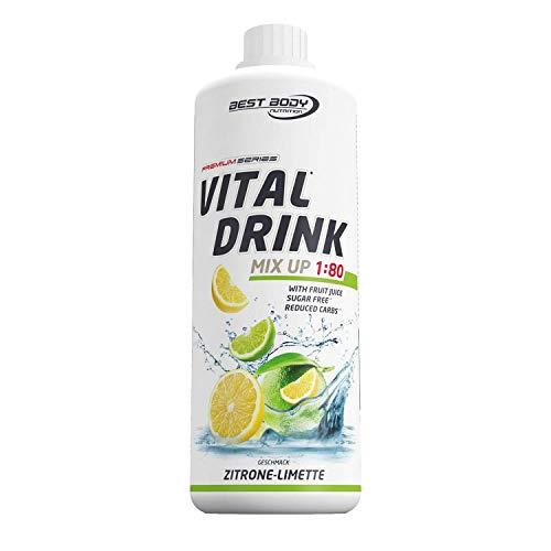 Best Body Nutrition Vital Drink ZEROP - Zitrone-Limette, zuckerfreies Getränkekonzentrat, 1:80 ergibt 80 Liter Fertiggetränk, 1000 ml
