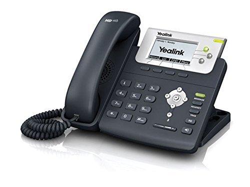 Tiptel Yealink SIP-T22P LCD Wired handset Negro - Teléfono IP (LCD, 132 x 64 Pixeles, 300 entradas, G.722, G.723.1, G.726, HTTPS, SRTP, User) (Reacondicionado)