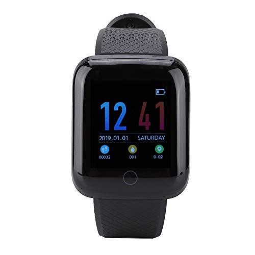 Monitor de frecuencia cardíaca con Pantalla táctil única D13 Pantalla a Color 4.0 Reloj Inteligente Pulsera Inteligente, para Mujeres WeChat QQ Hombres