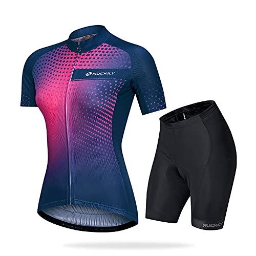 Roapa Ciclismo con 3D Acolchado De Gel, Maillot Ciclismo + Pantalon/Culotte Bicicleta Transpirable Elástico Secado Rápido, para Deportes al Aire Libre Ciclo Bicicleta